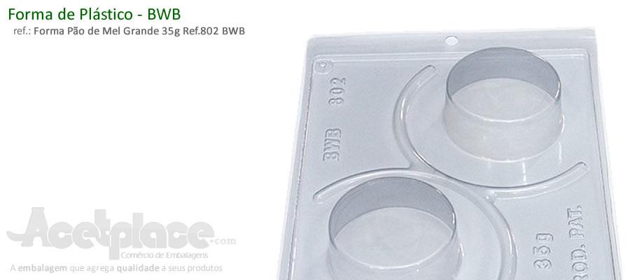 8419d42fc Forma com Silicone Pão de Mel Grande 35g Ref.802 BWB