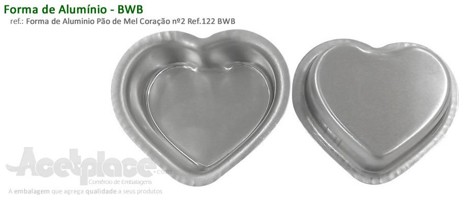 8b0667649b Forma de Aluminio Pão de Mel Coração nº2 Ref.122 BWB