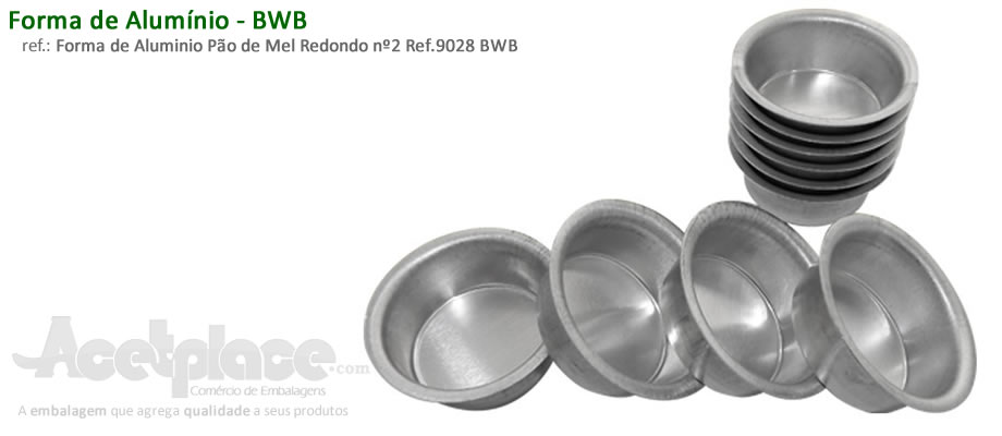 34e7e01516 Forma de Aluminio Pão de Mel Redondo nº2 Ref.9028 BWB