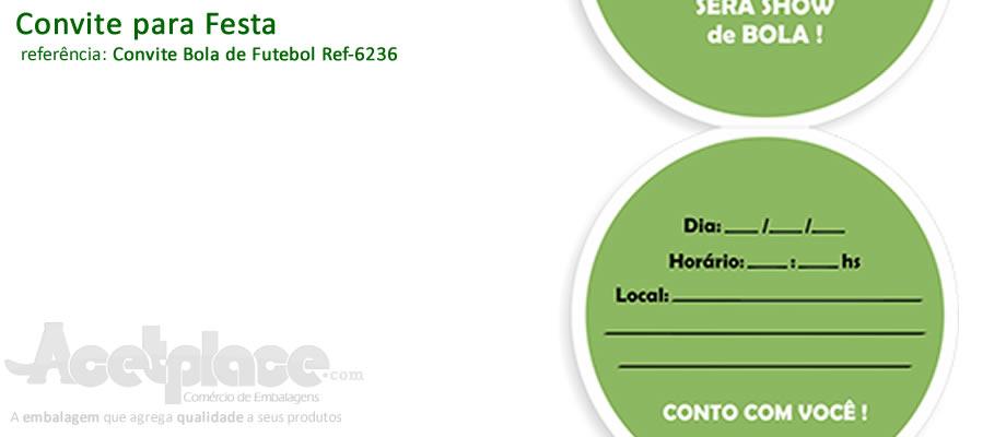 Convite Bola de Futebol Ref-6236 1f2d204dca54b