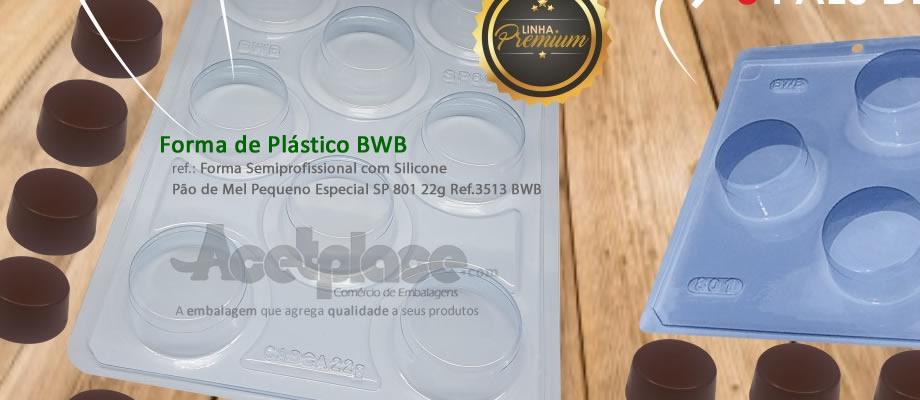 65587fd1a Forma Semiprofissional com Silicone Pão de Mel Pequeno Especial SP 801 22g  Ref.3513 BWB