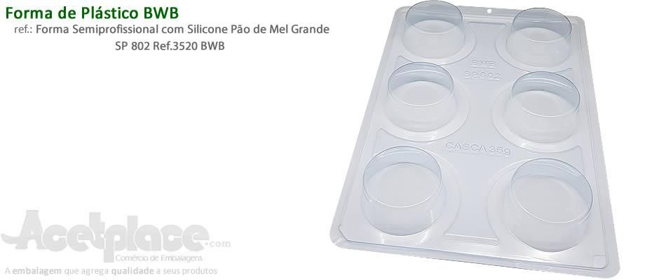 4a5cd0036 Forma Semiprofissional com Silicone Pão de Mel Grande SP 802 Ref.3520 BWB