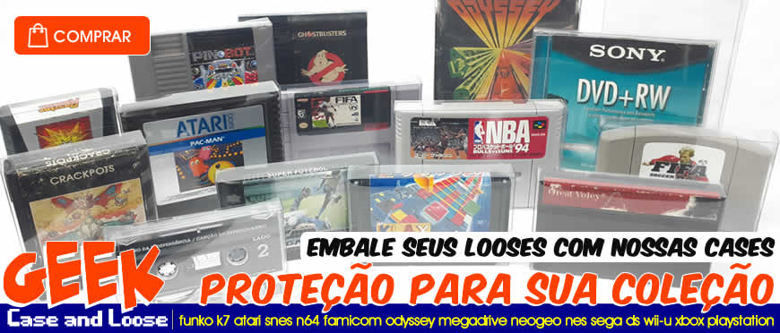 Protetor para Cases e Cartuchos Looses de Video Game